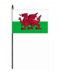 Wales Country Hand Flag - Small.